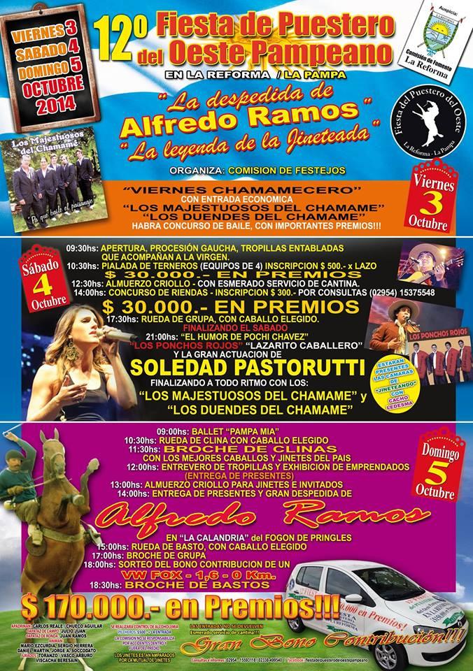 Soledad Pastorutti actuará en la Fiesta del Puestero