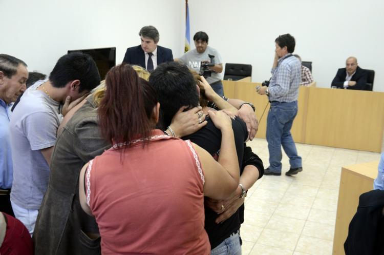Dolor por parte familiares y amigos de Matias al conocer la decisión del tribunal