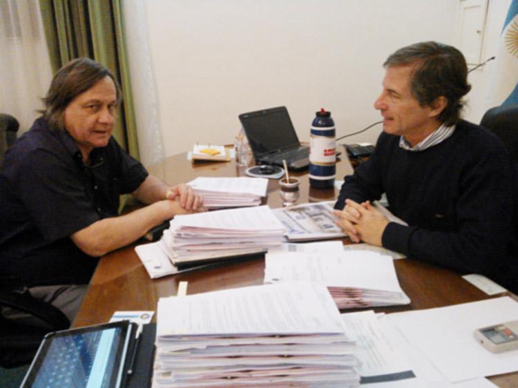 Johnston se reunió con el Jefe de Policía de la Provincia