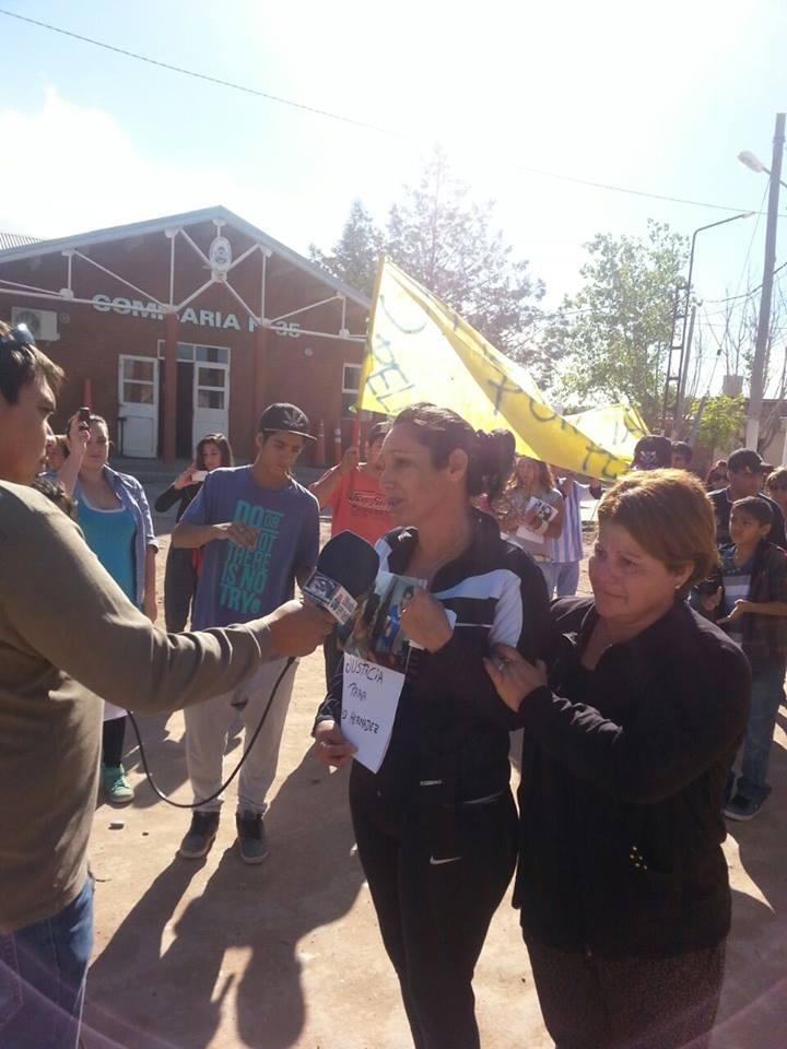 Marcha por el asesinato de David Hernádez en Rincón y Catriel