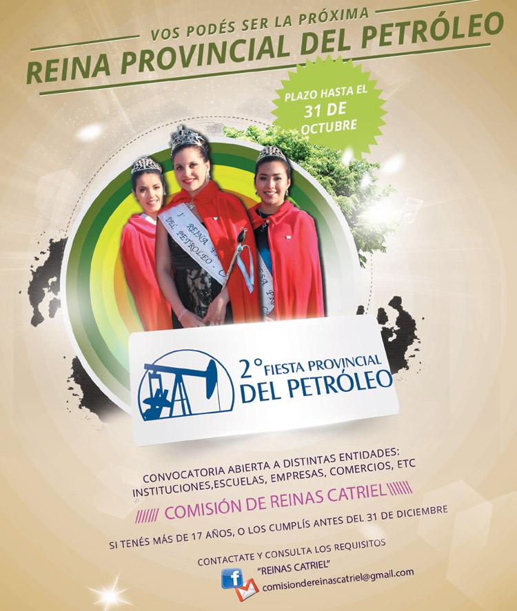 Está abierta la convocatoria para postulantes a Reina Provincial del Petróleo