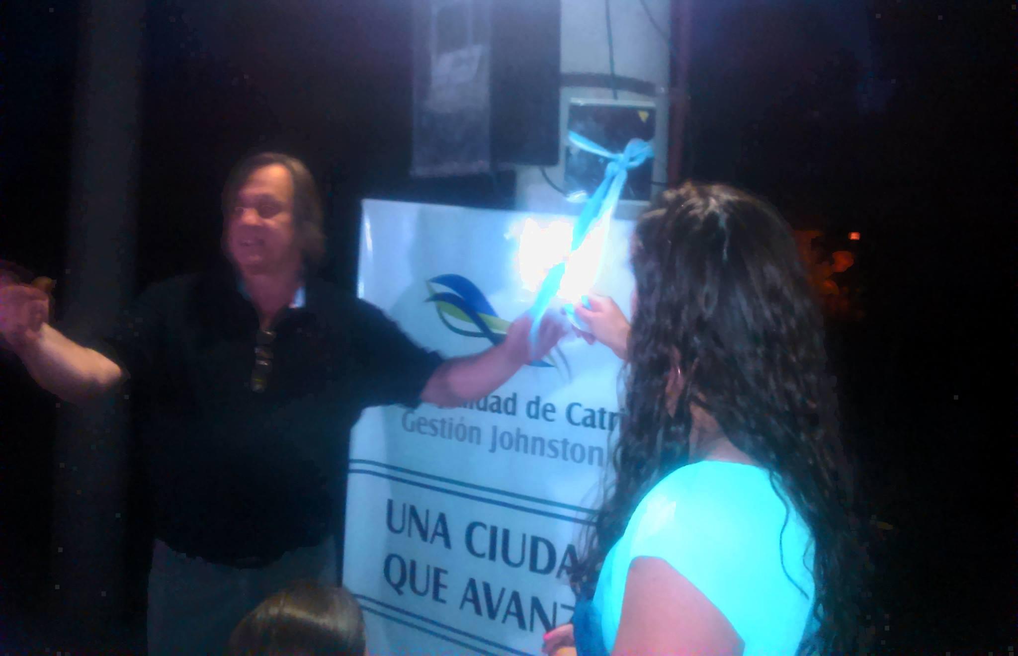 Dos nuevas obras de luminarias inauguradas: calle Jamaica y bulevar de avenida Roque Sáenz Peña