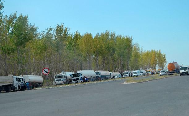 El sindicato de Camioneros levanto el corte