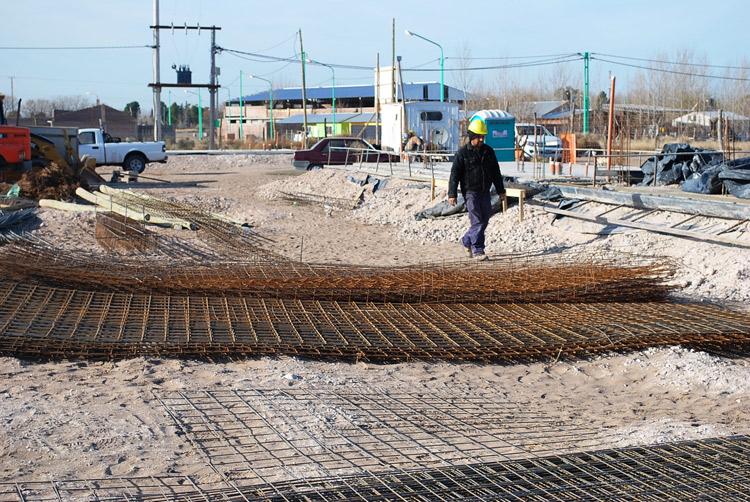 Avanza la construcción de treinta viviendas sociales en el barrio Preiss