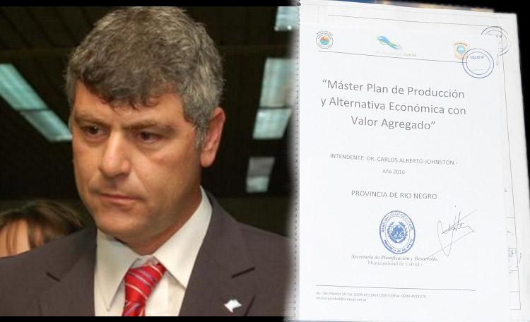 El Ministro de Agroindustria de la Nación Ricardo Buryaile, recibió el Master Plan de manos de Johnston
