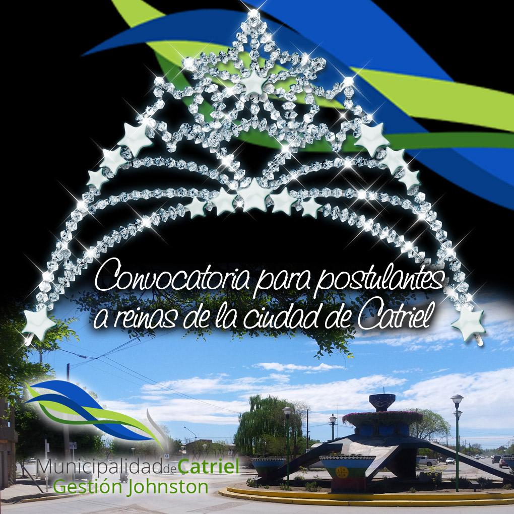 Llaman a inscripción para postulantes a Reina de la ciudad de Catriel
