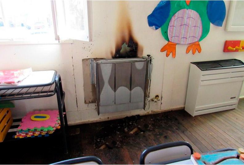 Principio de incendio Jardín de Infantes 121, podría haber sido intencional